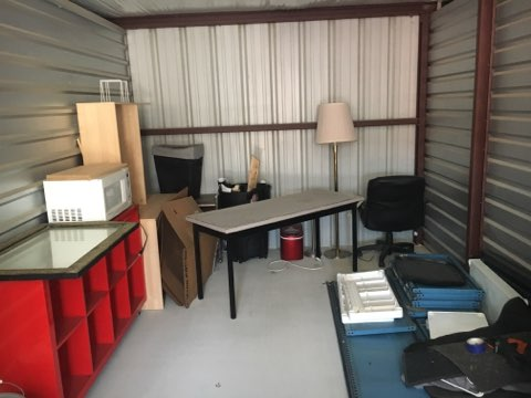 Storage unit solution for empty nesters with too much stuff to store